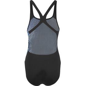 speedo IllusionWave Placement Powerback - Bañador Mujer - azul/negro